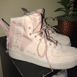 Nike Shoes - 🌸💕💗Woman's pink Nike Air Force one high tops🌸